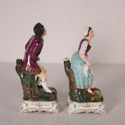 Pair of statuettes, perfume bottles