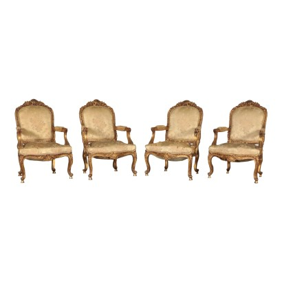 Group of 4 Armchairs, 20th Century