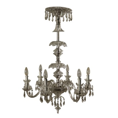Chandelier, Glass, Italy 20th Century
