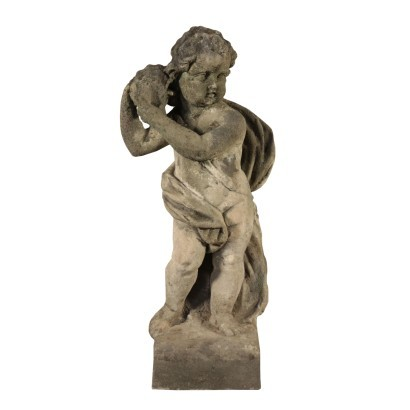 Garden Scuplture with Putto, Stone, Italy 19th Century