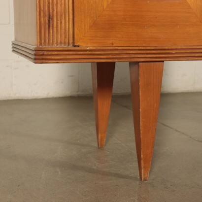 Buffet, Ash Veneer Burl and Glass, Italy 1940s-1950s