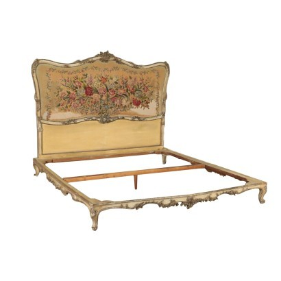 Baroccheto Style Bed, Italy 19th Century