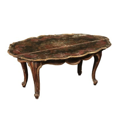 Small Lacquered Table, Italy 20th Century