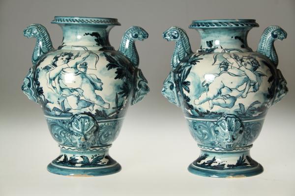 Coppia vasi ceramiche antiquariato for Vasi cinesi antichi antiquariato