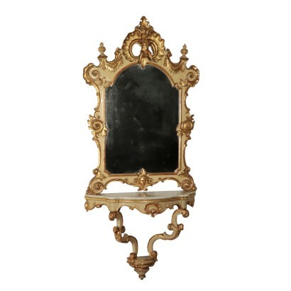 Console with Mirror Italy 19th Century