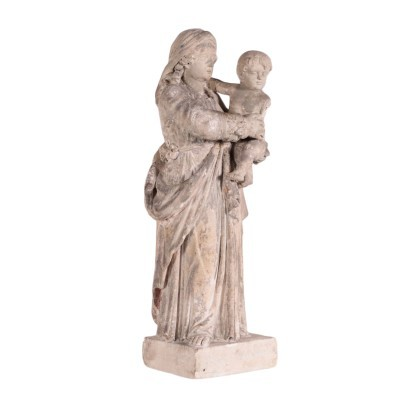 Virgin Mary with Child Stone Italy 19th Century