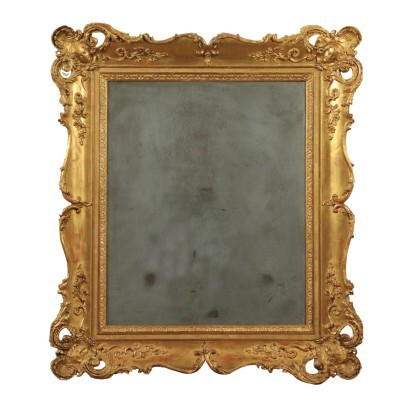 Ecletic Wall Mirror, Mercury, Italy19th Century