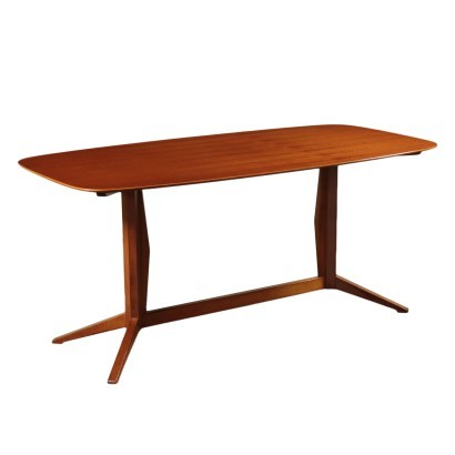 Table, Beech and Teak Veneer, Italy 1960s