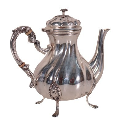 Teapot Silver Italy 19th Century