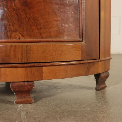 Corner Cabinet Walnut Italy 19th Century