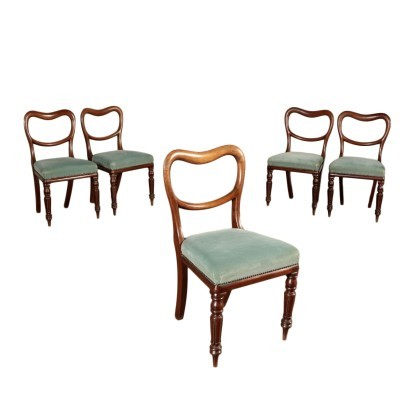 Group of 5 Chairs Mahogany England 20th Century