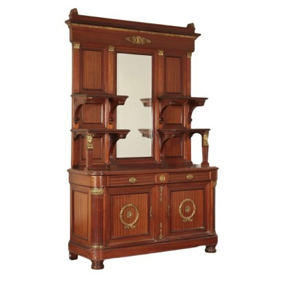 Empire Style Cupboard Mahogany Italy 20th Century