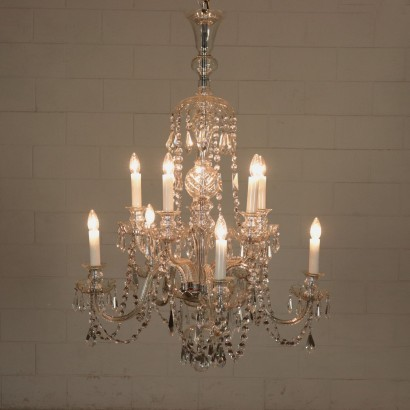 Crystal Chandelier Italy 20th Century