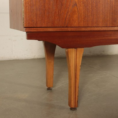 Sideboard Teak Veneer and Beech England 1960s English Prodution