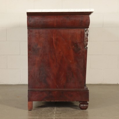 Empire Style Ligurian Chest of Drawers Mahogany Italy 19th Century