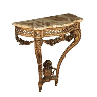 Neoclassical Style Drop Shaped Console Italy 20th Century