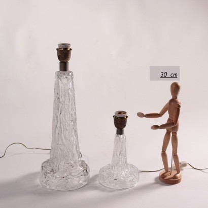 Pair of Glass Lamps Murano Italy 1950s