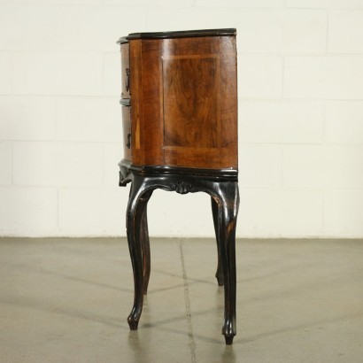 Small Barocchetto Revival Cabinet Wood Italy 20th Century