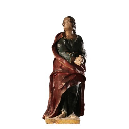 Sculpture of St. John Baptist Italy 17th Century