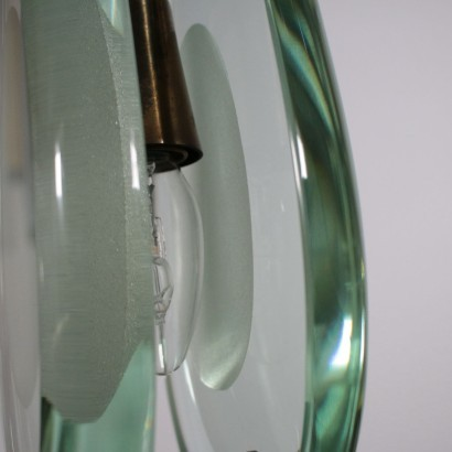 Lamp Crystal Brass Italy 1960s Max Ingrand FontanaArte
