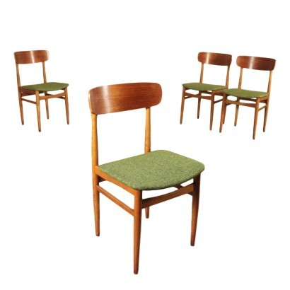 Chairs Beech Foam Plywood Fabric Iatly 1960s