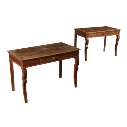 Pair of Louis Philippe Consoles Cherry Italy 19th Century