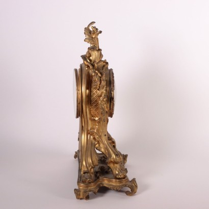 Bronze Clocl Triptych France 19th Century