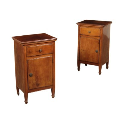 Pair of Neo-Classical Bedside Tables Walnut Italy 18th Century
