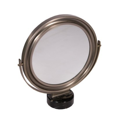 Table Mirror Sergio Mazza Marble Chromed Metal 1960s 1970s
