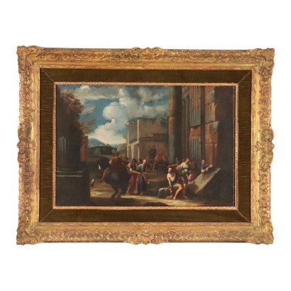 Scope Of Giovanni Ghisolfi Oil On Canvas 17th Century