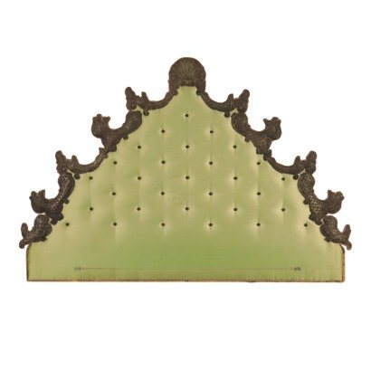 Bed Headboard Padding and Shear Plate Italy 20th Century