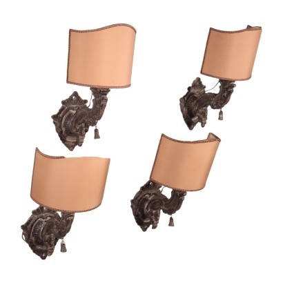 Group of 4 Barocchetto Wall Lights Italy 18th Century