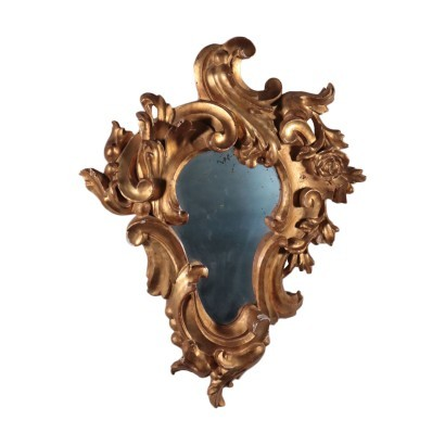 Roman Mirror Barocchetto Period Rome Italy 18th Century