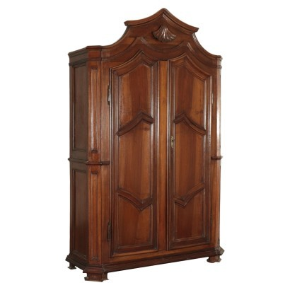 Wardrobe Walnut Piedmont Italy End Of 18th Century Early 19th Century