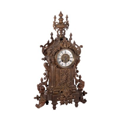 Table Clock Bronze France 19th Century