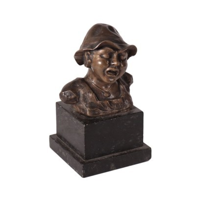 Bust of a Crying Child Bronze 20th Century