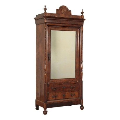 Louis Philippe Genoese Wardrobe Walnut Italy 19th Century