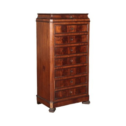 Umbertine Chest of Drawers Walnut Italy 19th Century
