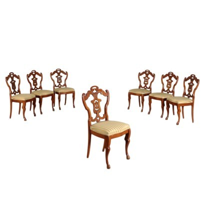 Group of Six Chairs, Cherry, Austria 19th Century