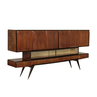 Cupboard Veneered Wood Italy 1950s 1960s