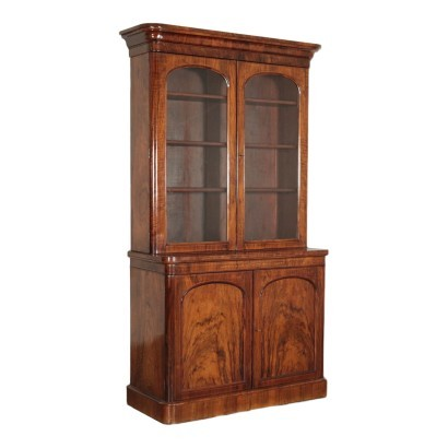 Cupboard Walnut Glass Maple Brazilian Rosewood England Late 1800