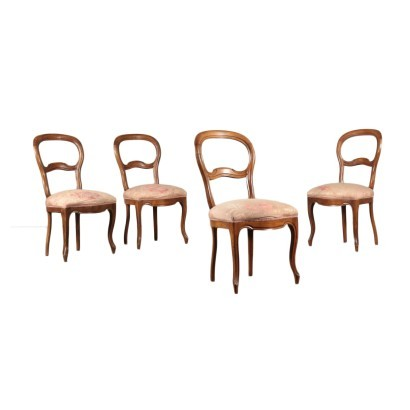 Group Of Four Louis Philippe Chairs Italy Second Quarter 19th Century