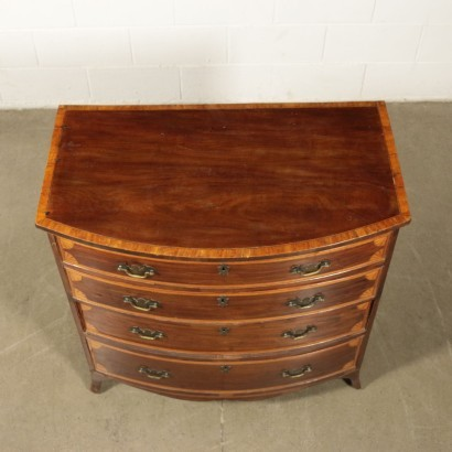 Chest Of Drawers Mahogany Maple Ebony Sessile Oak England Late 1800