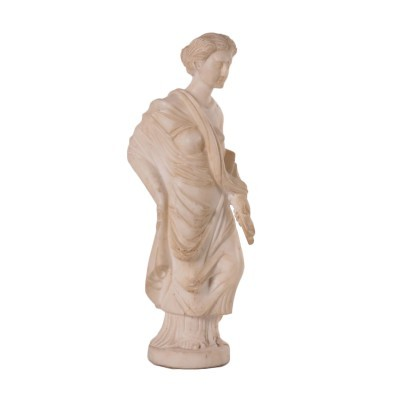 Sculpture of a Roman Matron White Marble Italy 19th Century