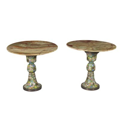 Pair of Small Tables Onyx 20th Century