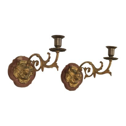 Pair of Wall Lights Iron Italy 20th Century