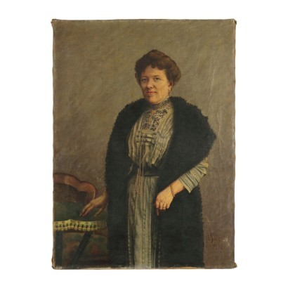 Female Portrait Oil on Canvas 1910