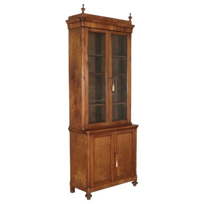 Louis Philippe Bookcase Walnut Italy 19th Century