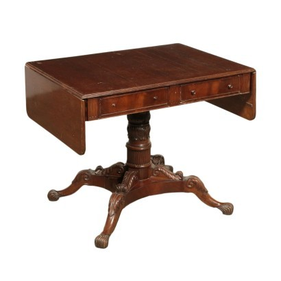 Small Early Victorian Table Mahogany Silver Fir England 19th Century