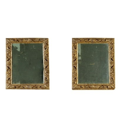 Pair of Baroque Wall Mirrors Italy 18th Century